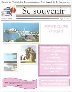 Bulletin septembre 2013