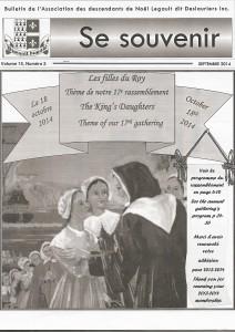 Bulletin septembre 2014