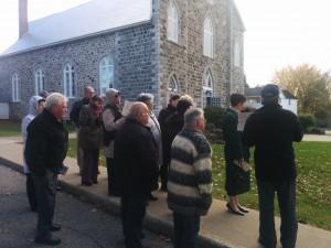 Visite de l'église au vieux village de Mont-Saint-Hilaire (circuit de visite)